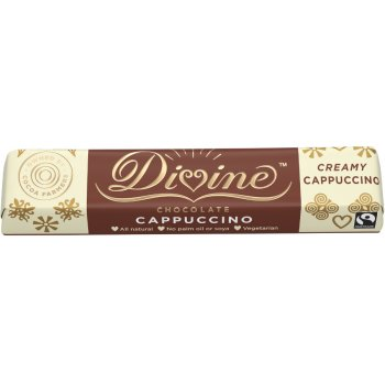 Divine Milk & White Chocolate Cappuccino Bar - 35g