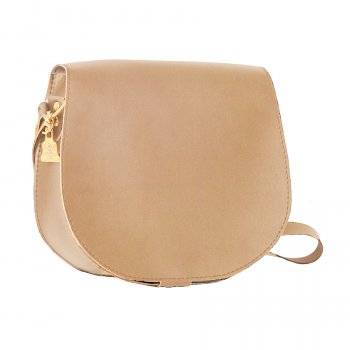 Wilby Bailey Beige Saddle Bag