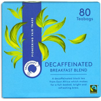 Traidcraft Fair Trade Decaffeinated Breakfast Blend Tea - 80 Teabags