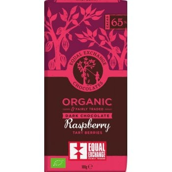 Equal Exchange 65 percent  Organic Raspberry Chocolate - 100g