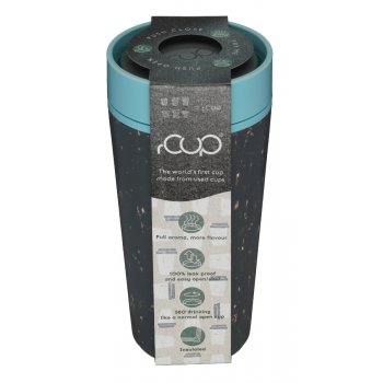 rCUP Black & Teal Reusable Coffee Cup - 340ml