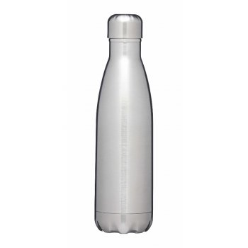 KitchenCraft LeXpress 500ml Brushed Stainless Steel Drinks Bottle