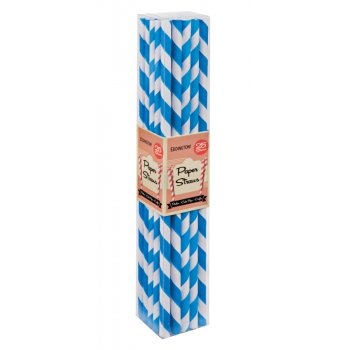 Eddingtons Blue Paper Straws - Pack of 25