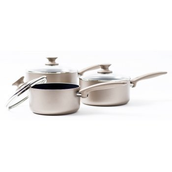 GreenPan Cambridge Bronze 3 Piece Saucepan Set