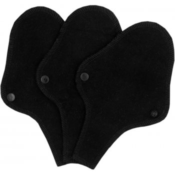 ImseVimse Black Reusable Thong Panty Liners - Pack of 3