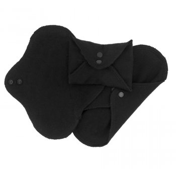ImseVimse Black Reusable Panty Liners - Pack of 3