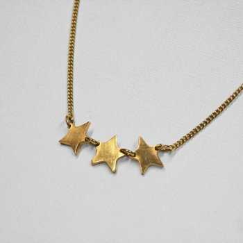 Made Casted Triple Star Necklace