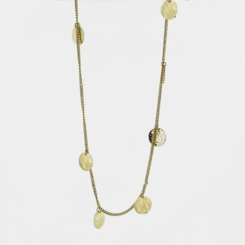 Made Brass Multi Disc Shilai Necklace