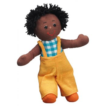 Lanka Kade Boy Doll - Black Skin Black Hair