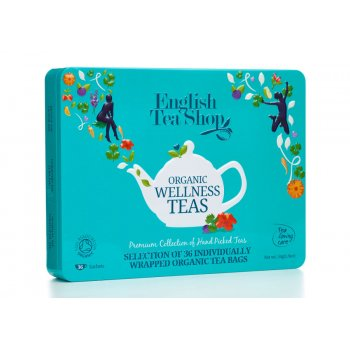 English Tea Shop Organic Tea Loving Care Wellness Gift Tin - 36