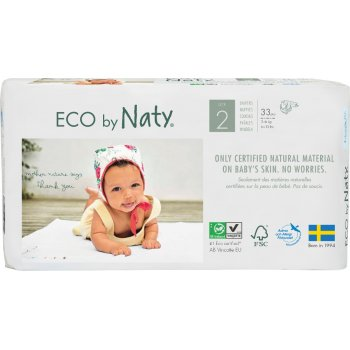 Eco By Naty Disposable Nappies Size 2 - Mini - Pack of 33