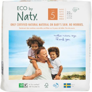 Eco By Naty Disposable Nappies Size 5 - Junior - Pack of 22