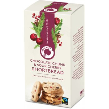 Traidcraft Chocolate Chunk & Sour Cherry Shortbread Rounds - 160g