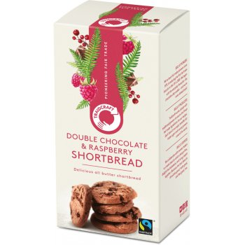 Traidcraft Dark Chocolate Chunk & Raspberry Shortbread Rounds - 160g