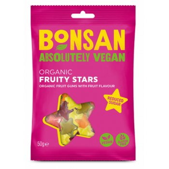 Bonsan Vegan Fruity Stars - 50g