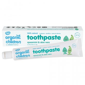 Green People Organic Childrens Fluoride Free Toothpaste - Spearmint & Aloe Vera - 50ml