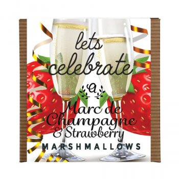 Anandas Handmade Strawberry & Champagne Marshmallows - 80g