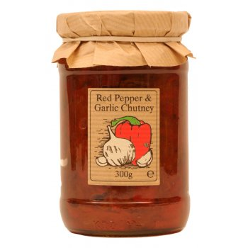Edinburgh Preserves Red Pepper & Garlic Chutney - 300g
