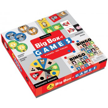 Mudpuppy Geometric Animals Box of Games