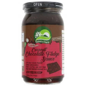 Natures Charm Vegan Coconut Chocolate Fudge Sauce - 400g