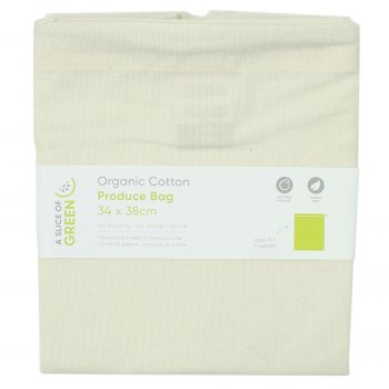 A Slice of Green Organic Cotton Produce Bag - Large