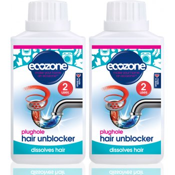 Ecozone Kit Plughole Hair Unblocker - Pack of 2