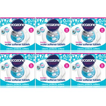 Ecozone Kit Laundry Water Softer Tablets x 16 - Pack of 6
