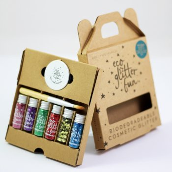 Six Piece Biodegradable Glitter Kit - Pride