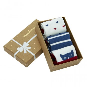 People Tree Organic Cotton Sock Gift Box - Navy