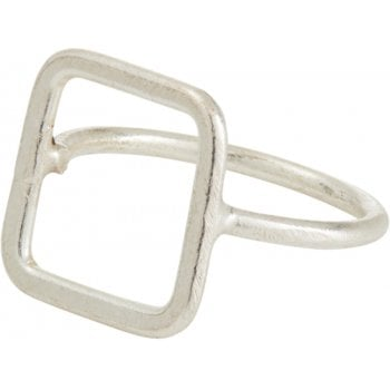 People Tree Square Silver Ring