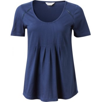 Nomads Navy Pleat T Shirt
