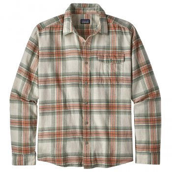 Patagonia Mens Lightweight Fjord Flannel Shirt - Whyte Celadon