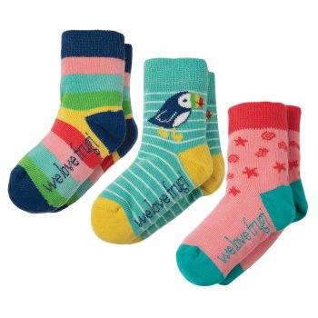 Frugi Little Rainbow Socks - Pack of 3