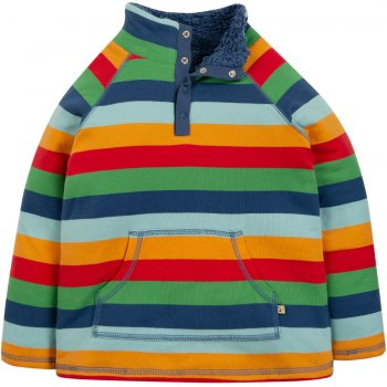 Frugi Rainbow Stripe Snuggle Fleece