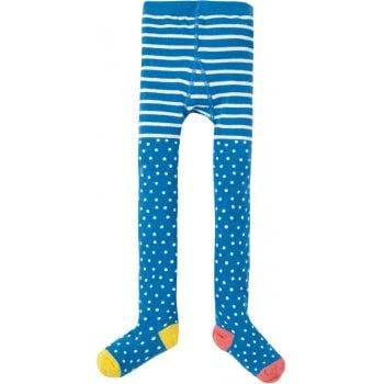Frugi Blue Polka Dot Norah Tights