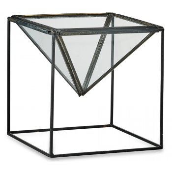 Karana Planter on Stand - Antique Black