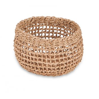 Mendi Natural Seagrass Basket - Extra Small