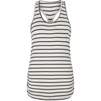Asquith Bamboo Chi Racer Back Top - Navy & Ivory Stripe