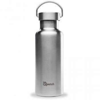 Qwetch Plastic Free Stainless Steel Reusable Water Bottle - 500ml