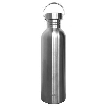 Qwetch Plastic Free Stainless Steel Reusable Water Bottle - 1L
