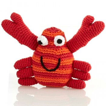 Fair Trade Cotton Crochet Red Crab Rattle
