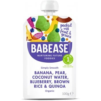 Babease Organic Banana, Pear & Coconut Water - 100g