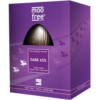 Moo Free 65 percent  Dark Chocolate Easter Egg - 160g