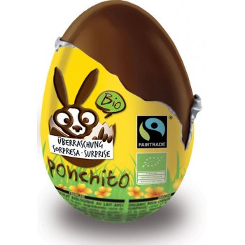Ponchito Organic & Fairtrade Milk Chocolate Chocolate Surprise Easter Egg - 50g