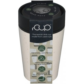 rCUP Cream & Black Reusable Coffee Cup - 227ml