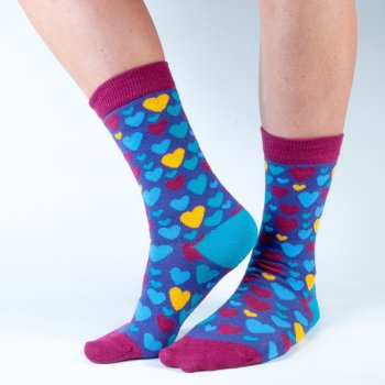 Doris & Dude Womens Purple Heart Bamboo Socks