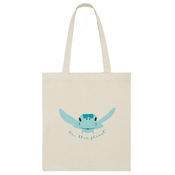 BBC Earth Green Turtle Tote Bag