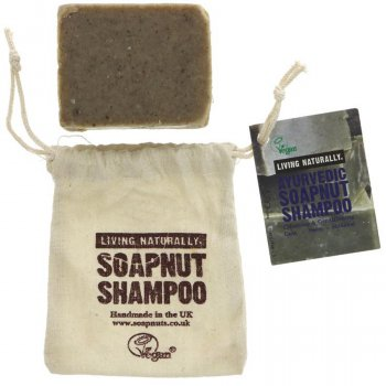Living Naturally Ayurvedic Soapnut Shampoo Bar - 90g