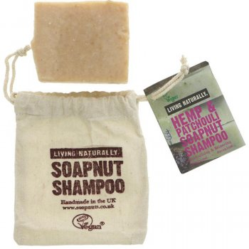 Living Naturally Hemp & Patchouli Shampoo Bar - 90g
