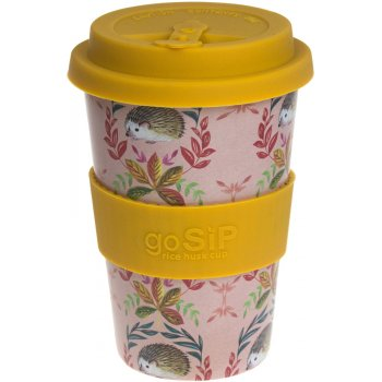 Rice Husk Reusable Coffee Cup - Hedgehogs - 400ml
